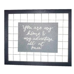 """""""You are my home & my adventure..."""" Canvas Board"""